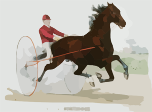 Trotting Stallion Stamboul, By Sultan: Record 2:12 1/4 Clip Art