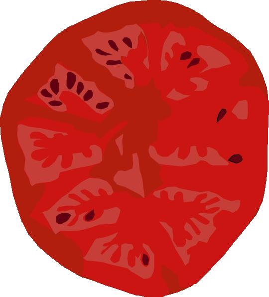 Tomato Slice Clip Art at Clker.com - vector clip art ...