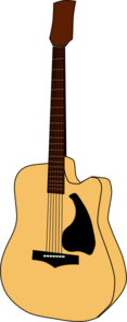 Cut Away Guitar Clip Art