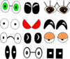 Eyes Collection Clip Art