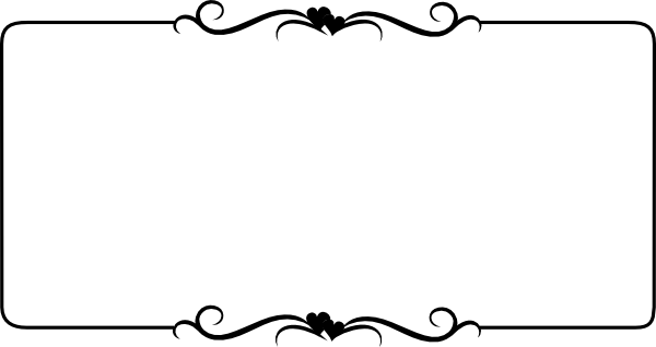 Fancy Borders Clip Art Black and White