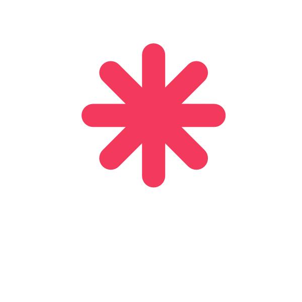 pink asterisk clip art at clkercom vector clip art