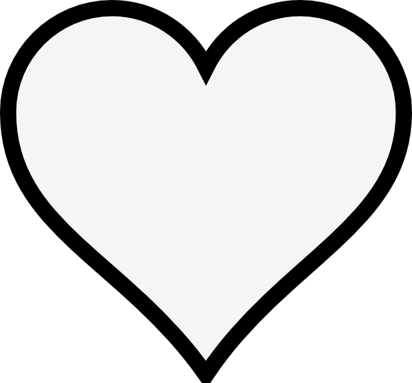 Heart- Outline Clip Art at Clker.com - vector clip art online, royalty ...