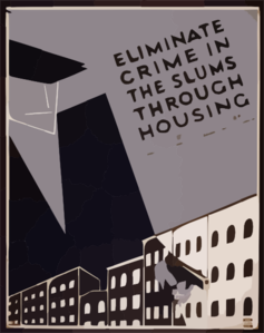 Eliminate Crime In The Slums Through Housing Clip Art
