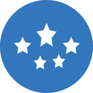 Medium Blue Stars Clip Art