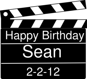 Happy Birthday Clap Board Clip Art