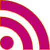 Rss Feed- Bright Pink Clip Art