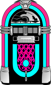 pink and blue jukebox clip art at clker com vector clip art online rh clker com jukebox clip art free 50's jukebox clipart