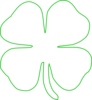 White Green Shamrock Clip Art