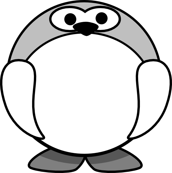 Download image Pinguin Hitam Putih Clip Art PC, Android, iPhone and ...