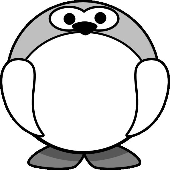 Pinguin Hitam Putih Clip Art At Clkercom Vector Clip Art Online
