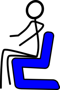 Chair Blue Clip Art