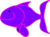 Purple Fish Clip Art