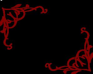 cheryl corner frame red clip art at clker com vector clip art