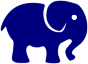 Royal Blue Elephant Clip Art