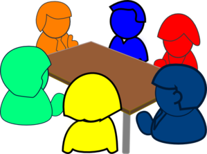 Colorful Meeting Clip Art