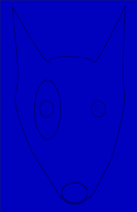 Blue Terrier Line Draw Face Clip Art