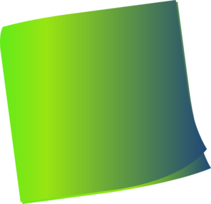 Shaded Green Sticky Note Clip Art