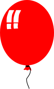 Red Balloon 2 Clip Art
