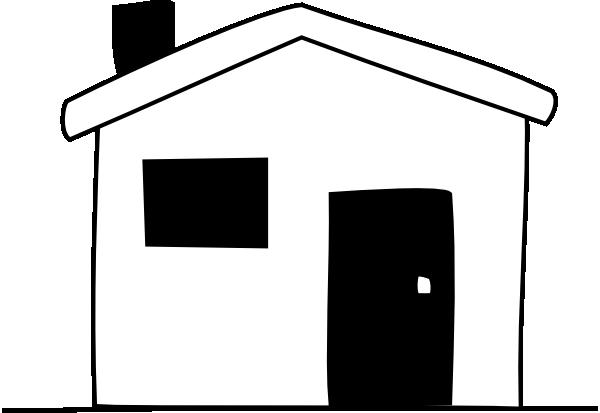 black white house clip art at clker com vector clip art online rh clker com House United Clip Art States White clipart black and white house