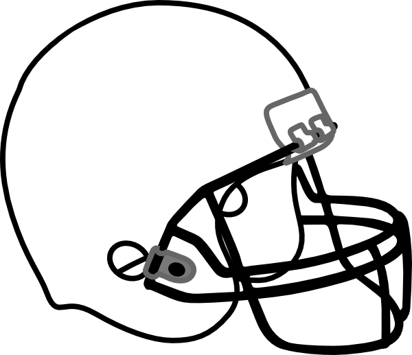 football helmet white black clip art at clker com vector clip art rh clker com football helmet clipart vector football helmet clipart vector