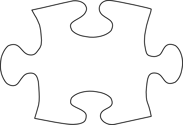 Jigsaw White Puzzle Piece No Shadow Clip Art At