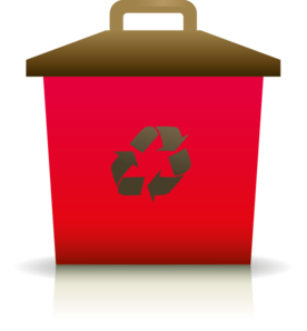 Red Recycling Container Clip Art