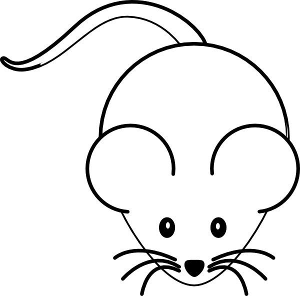 Black And White Mouse Clip Art at Clker.com - vector clip ...