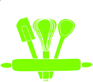 Green Kitchen Utensils Clip Art