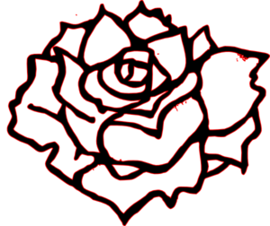 Dark Rose Clip Art