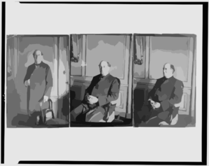[three Portraits Of William Jennings Bryan At The Grand Hotel, Paris, All Three-quarter Length: 1) Seated, Facing Front; 2) Seated, Facing Left; And 3) Standing, Facing Front] Clip Art