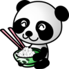 Panda Eating Rice Clip Art