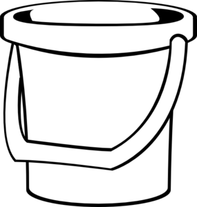 White bucket 1 clip art at vector clip art for Sand bucket template