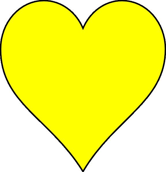clip art yellow heart - photo #9