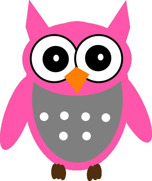 Pink Gray Owl Clip Art at Clker.com - vector clip art ...