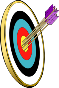 Arrows And Target Clip Art