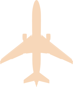 Beige Airplane Clip Art
