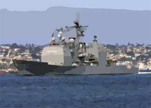 The Guided Missile Cruiser Uss Mobile Bay (cg 53) Makes Her Way Down San Diego Bay To Naval Station San Diego Clip Art