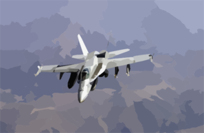 F/a-18 Prepares For Aerial Refueling Operations. Clip Art