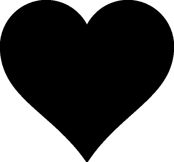 The Black Heart Clip Art at Clker.com - vector clip art ...
