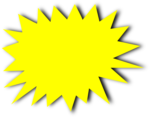 yellow starburst clipart - photo #2