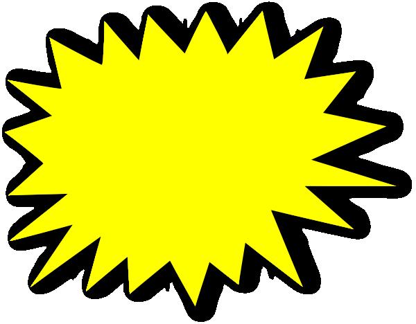 yellow starburst clipart - photo #2