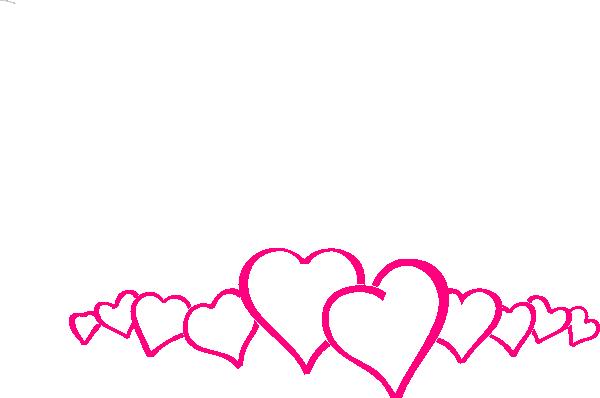 pink hearts border clip art