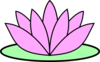 Pink Lotus Flower Clip Art