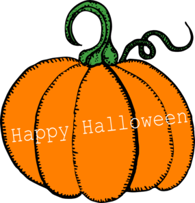 Happy Halloween Pumpkin Clip Art