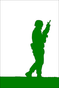 Unkown Soldier Green Clip Art