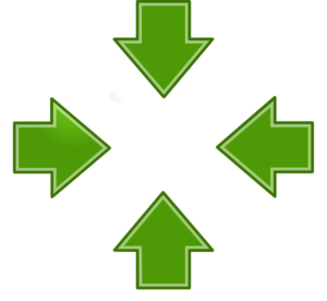 Green Arrows Inward 2 Clip Art