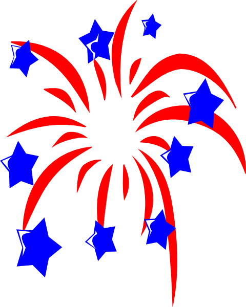red fireworks with blue stars clip art at clker com vector clip rh clker com fireworks clipart images fireworks clipart with no background