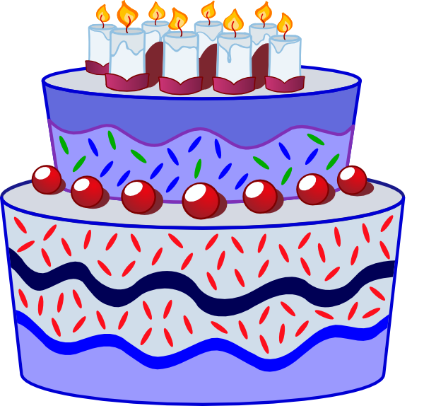 Free Clipart Birthday Cake Pictures : Birthday Cake Clip Art at Clker.com - vector clip art ...