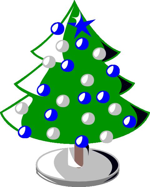 christmas tree clip art at clkercom vector clip art online royalty free public domain - Small Blue Christmas Tree